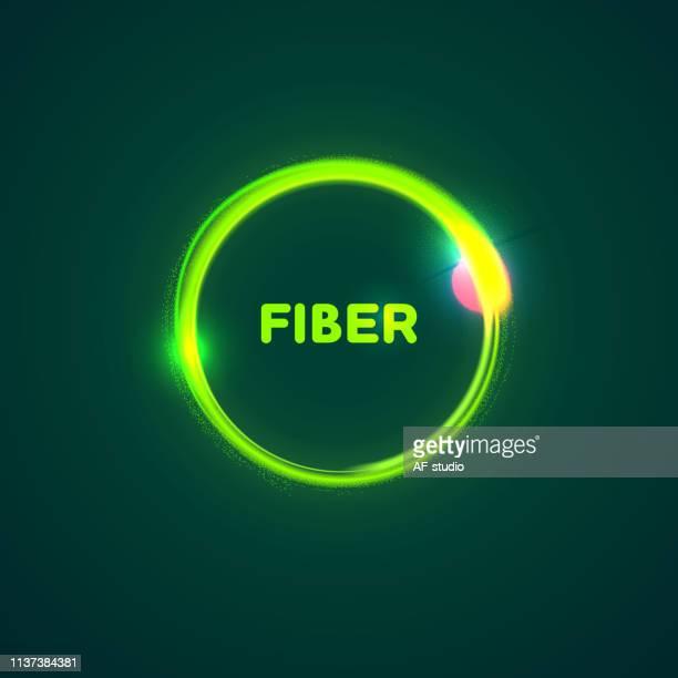 illustrazioni stock, clip art, cartoni animati e icone di tendenza di cerchio di fibre astratte - molecola