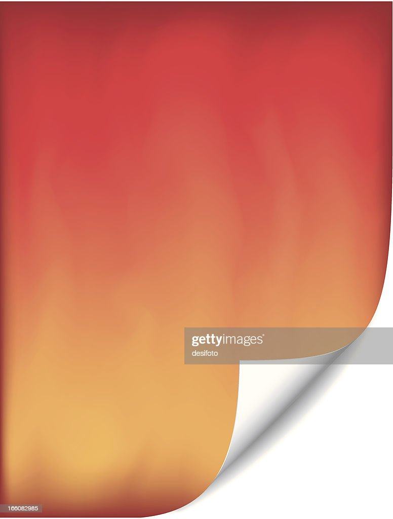 Abstract fiery kind of BG with a curl