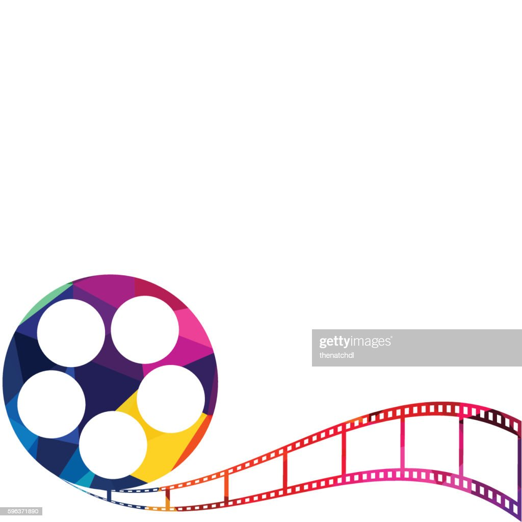 Abstract film reel polygon background vector illustration
