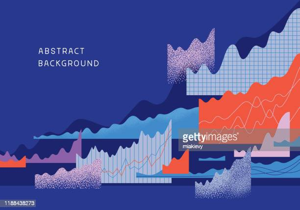 abstract finance background - data stock illustrations