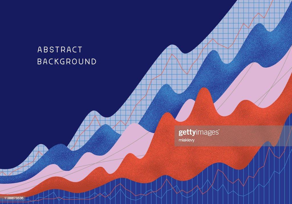 Abstrakter finanzieller Hintergrund : Stock-Illustration
