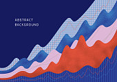 Abstract financial background