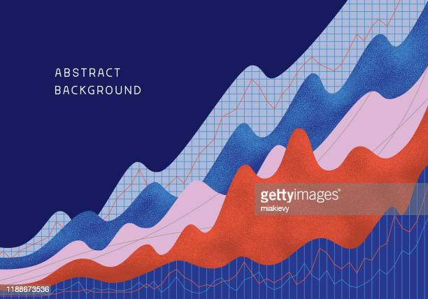 illustrazioni stock, clip art, cartoni animati e icone di tendenza di abstract financial background - dati