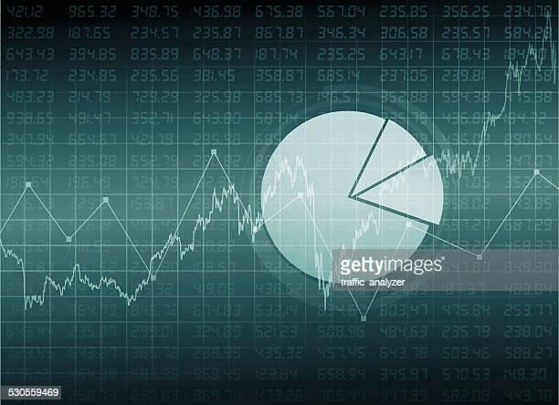 Abstrakte finanzielle Hintergrund