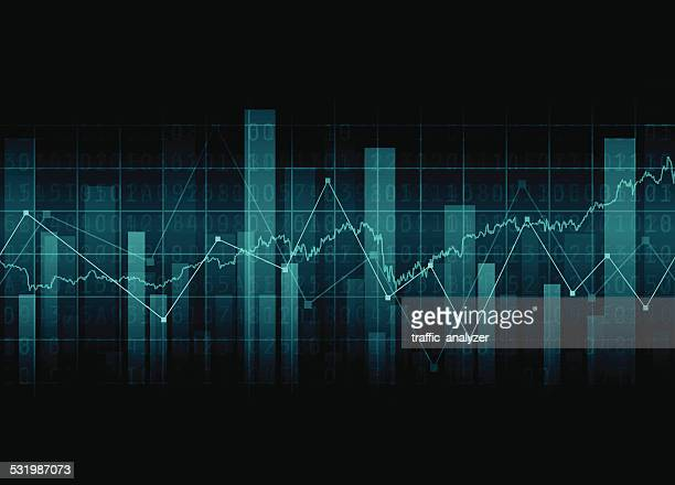 abstract financial background - analysing stock illustrations