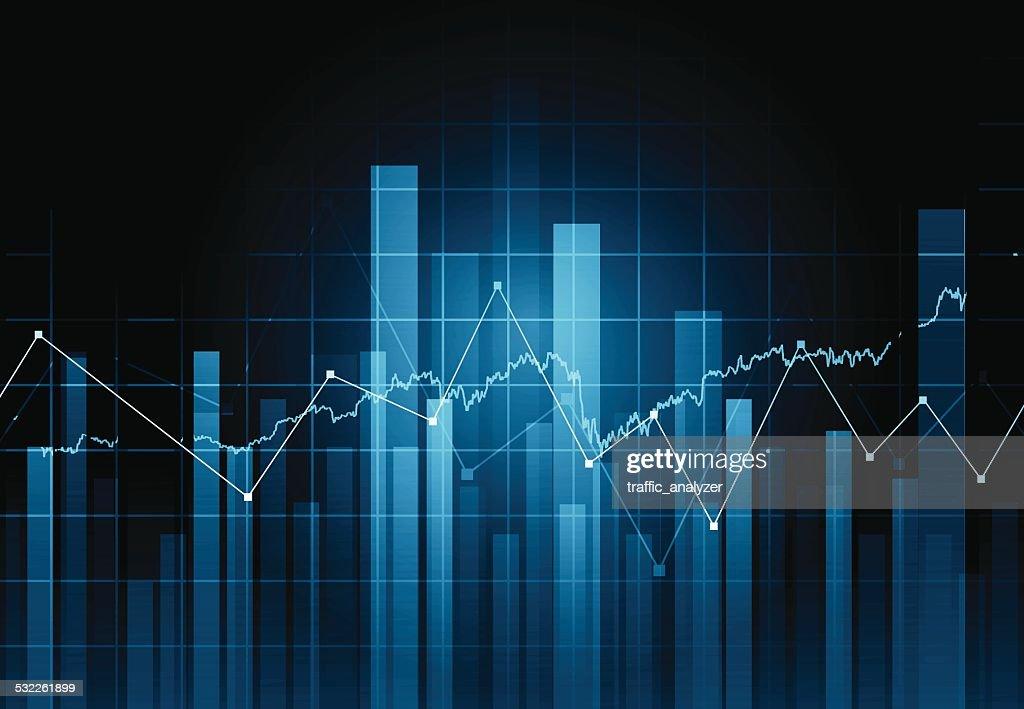Abstrakte finanzielle Hintergrund : Stock-Illustration