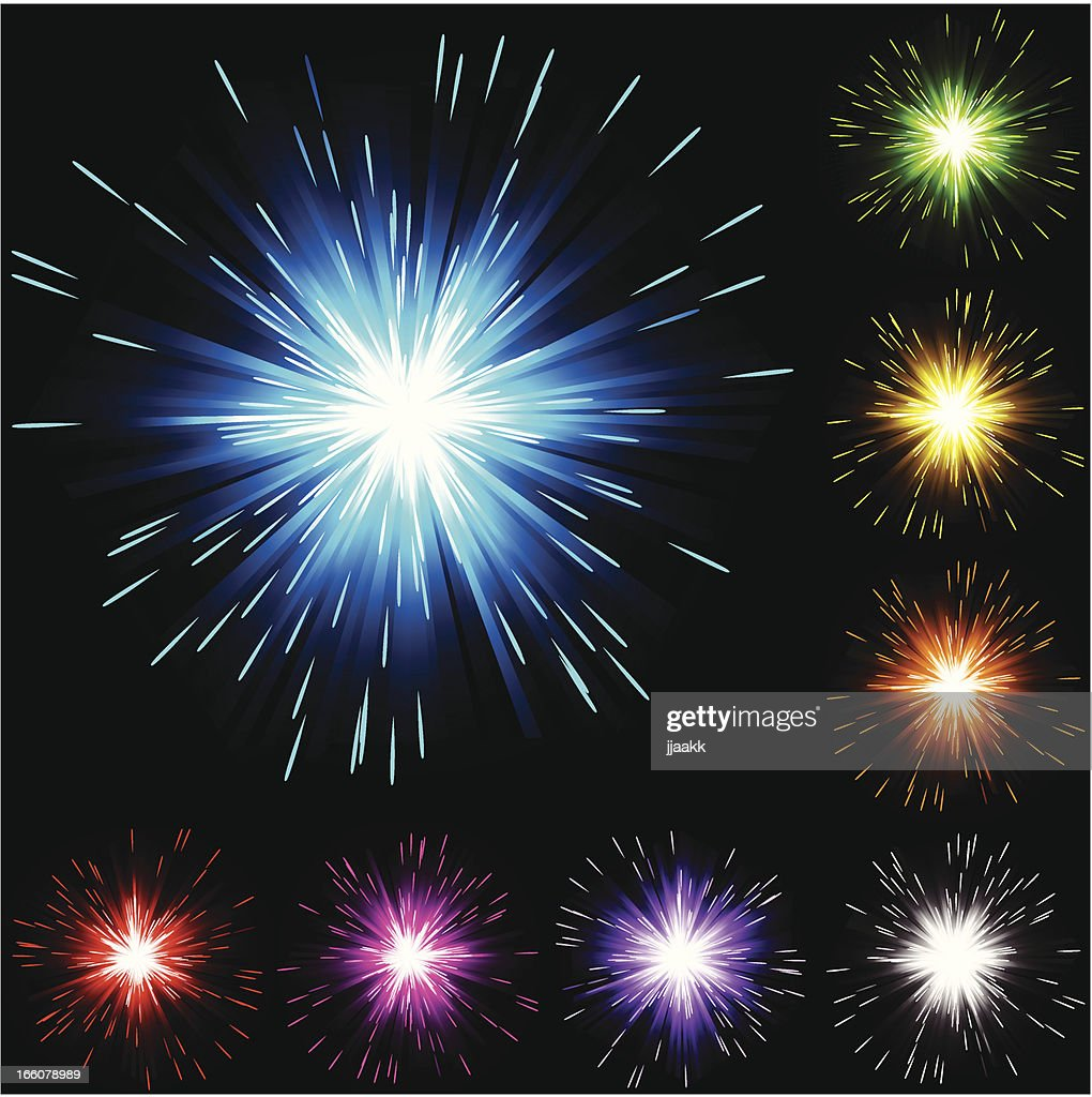 Abstract firework