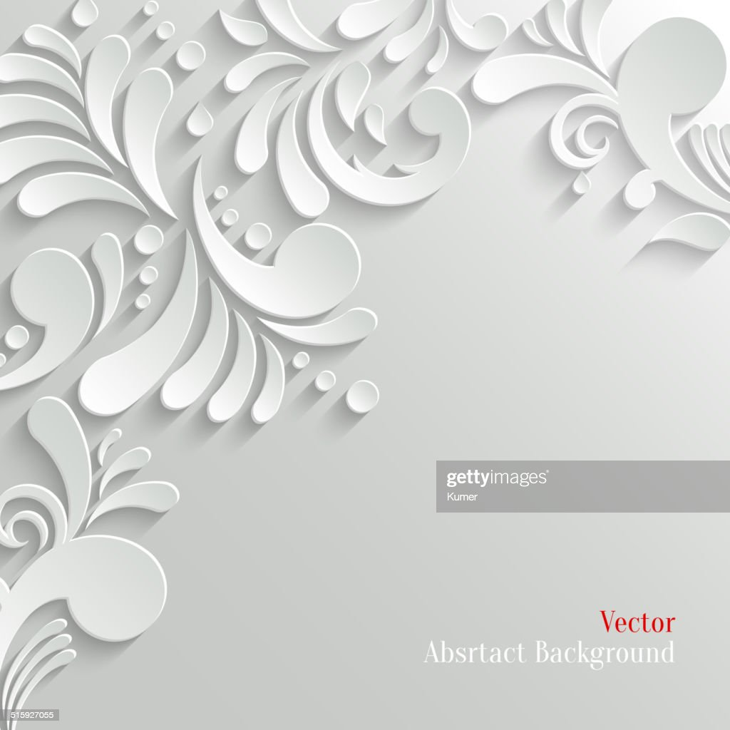 Abstract Floral 3d Background, Trendy Design Template