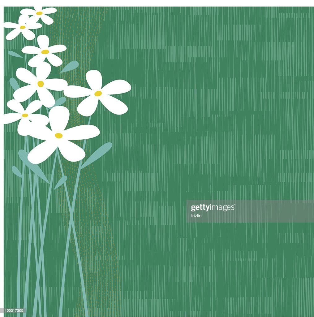 Abstract floral and green background