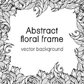 Abstract floral frame plant, vegetable background, cover, card, invitation, banner