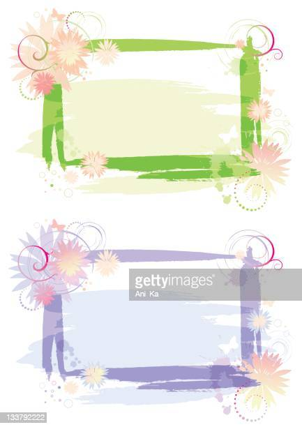 abstract floral frames - music style stock illustrations, clip art, cartoons, & icons