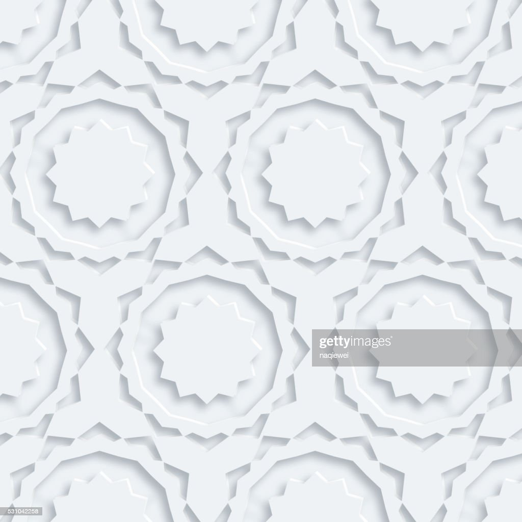 3D abstract floral pattern background