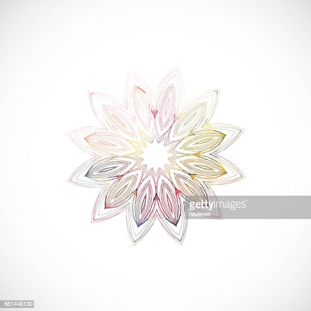 abstract floral pattern icon