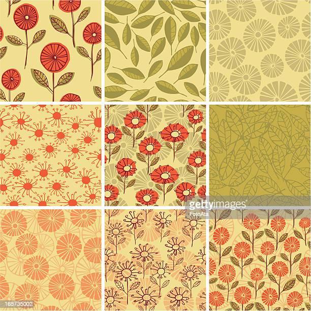 抽象花柄 - リーフ柄点のイラスト素材/クリップアート素材/マンガ素材/アイコン素材