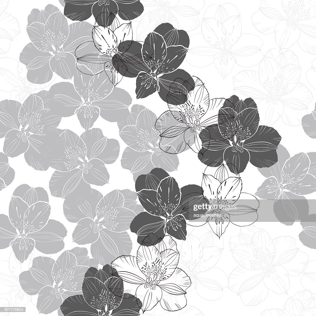 Abstract floral seamless pattern.  Floral vector background.