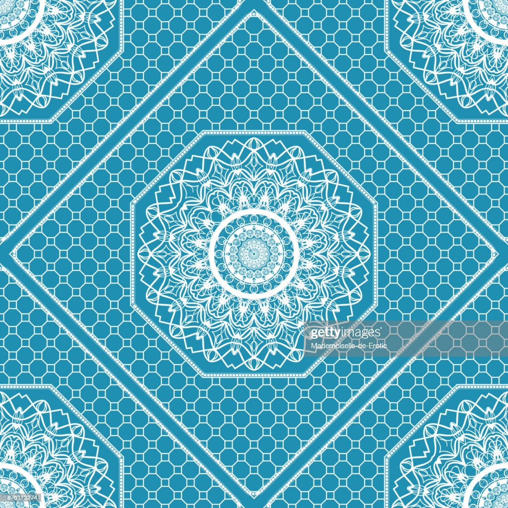 Abstract Floral Seamless Pattern Geometry Mandala Design Vector For Invitation Bridal Wedding Wallpaper