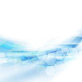 Abstract flow blue background for technology or science concept