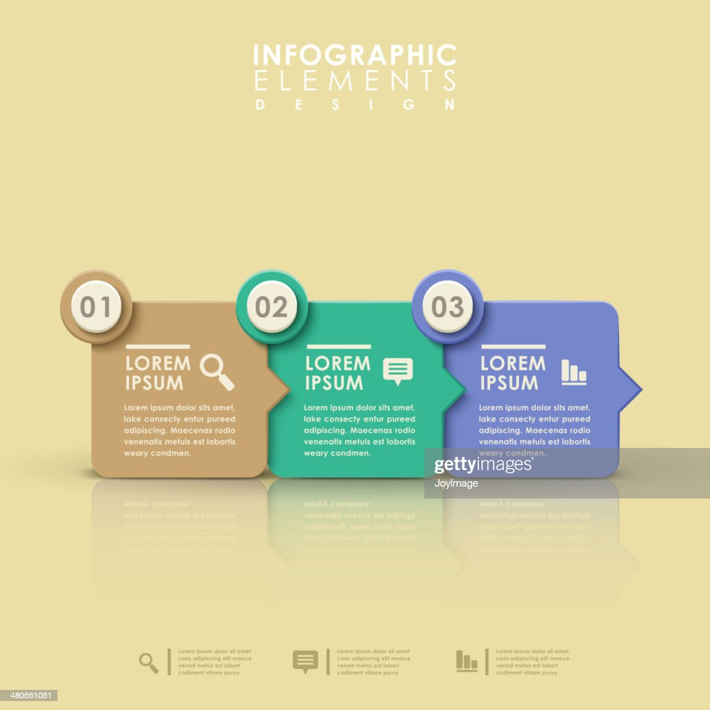 abstract flow chart infographics : Vector Art