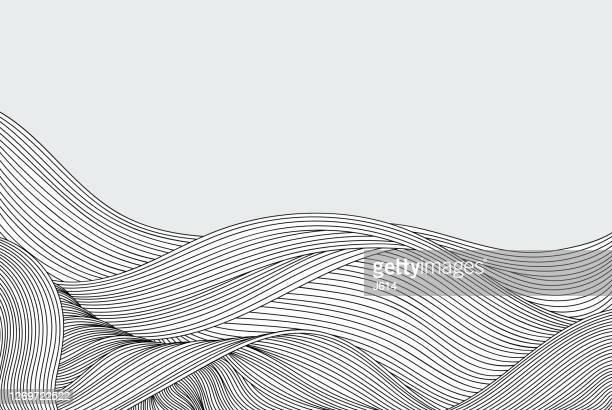 illustrazioni stock, clip art, cartoni animati e icone di tendenza di sfondo del doodle del flusso astratto - scarabocchio motivo ornamentale