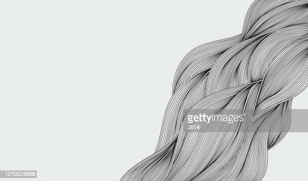 抽象的な流れの波の落書き - 布点のイラスト素材/クリップアート素材/マンガ素材/アイコン素材
