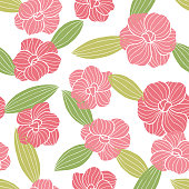 Abstract flower graphic color seamless pattern background sketch illustration vector