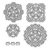 Abstract Flower Mandala. Decorative ethnic element for design
