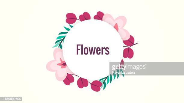 ilustrações, clipart, desenhos animados e ícones de fundo abstrato do teste padrão de flor - moldura de quadro composição