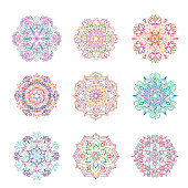 Abstract flower pattern. Mandala ornament. Floral oriental decor