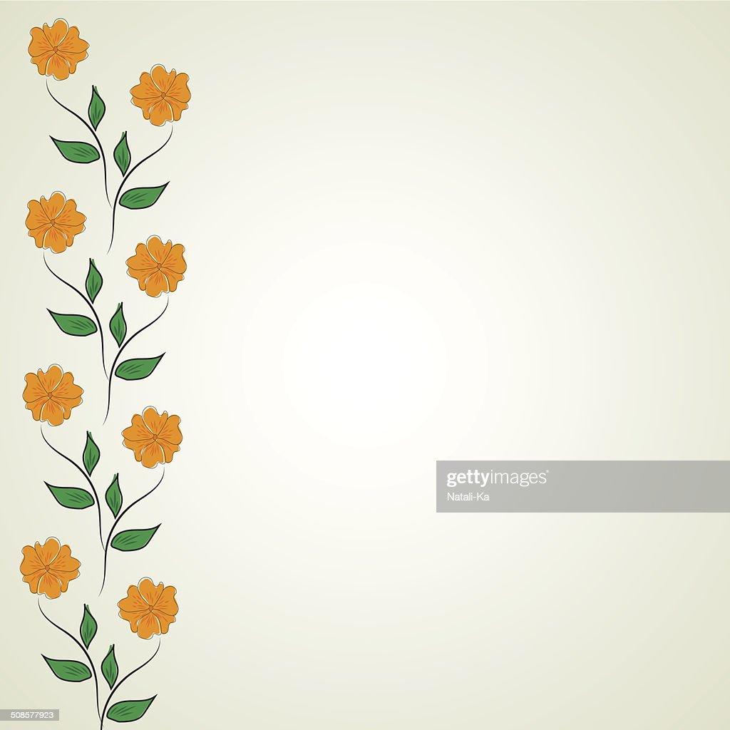 Astratto motivo floreale : Arte vettoriale
