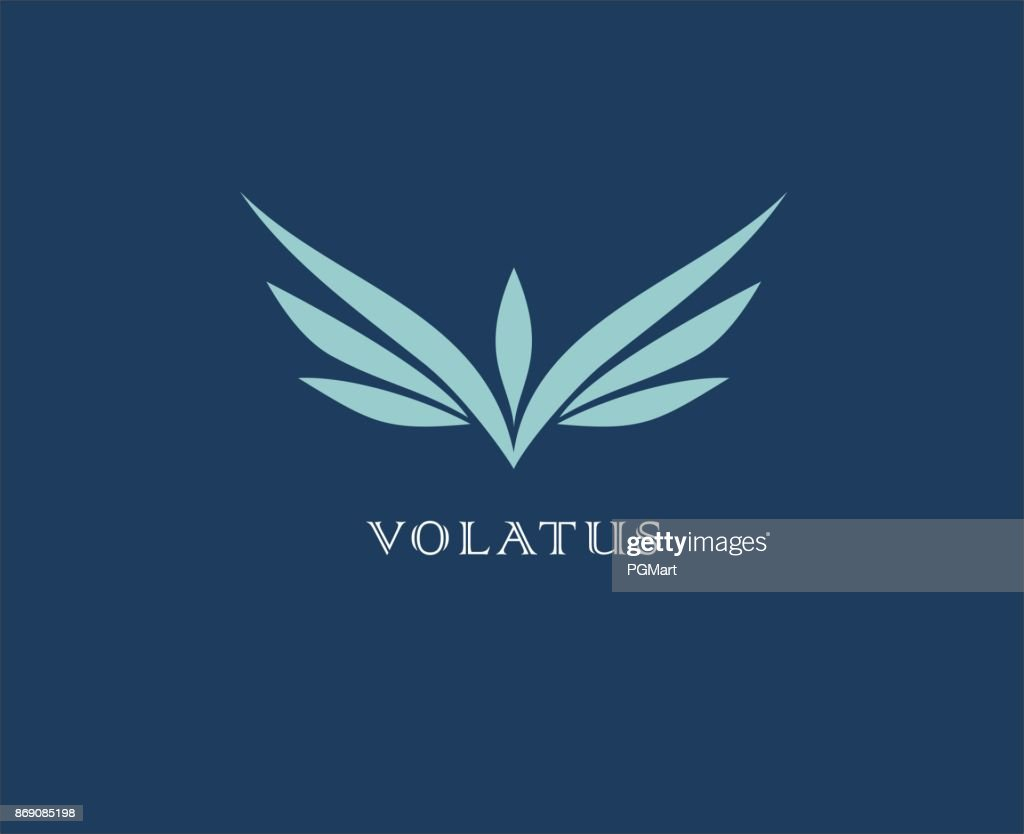 Abstract flower, wings vector icon . Delivery, business, cargo, success, money, deal, contract, team, cooperation symbol icon. Corporate financial sign.