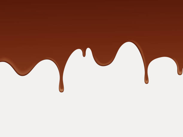 abstract fluid chocolate background. - melting stock illustrations