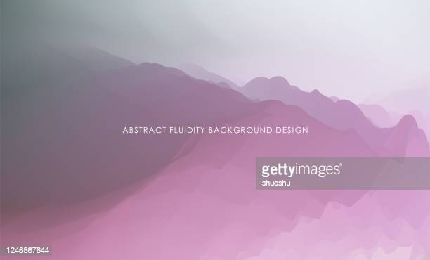 abstract fluid style nature  mountain landscape background - digital composite stock illustrations