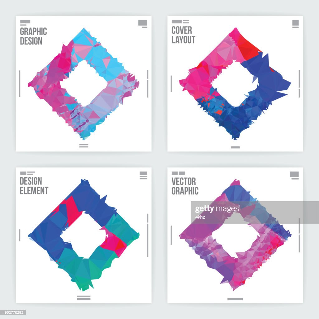 Abstract Frame Graphic Design Poster Layout Template Vector Art ...