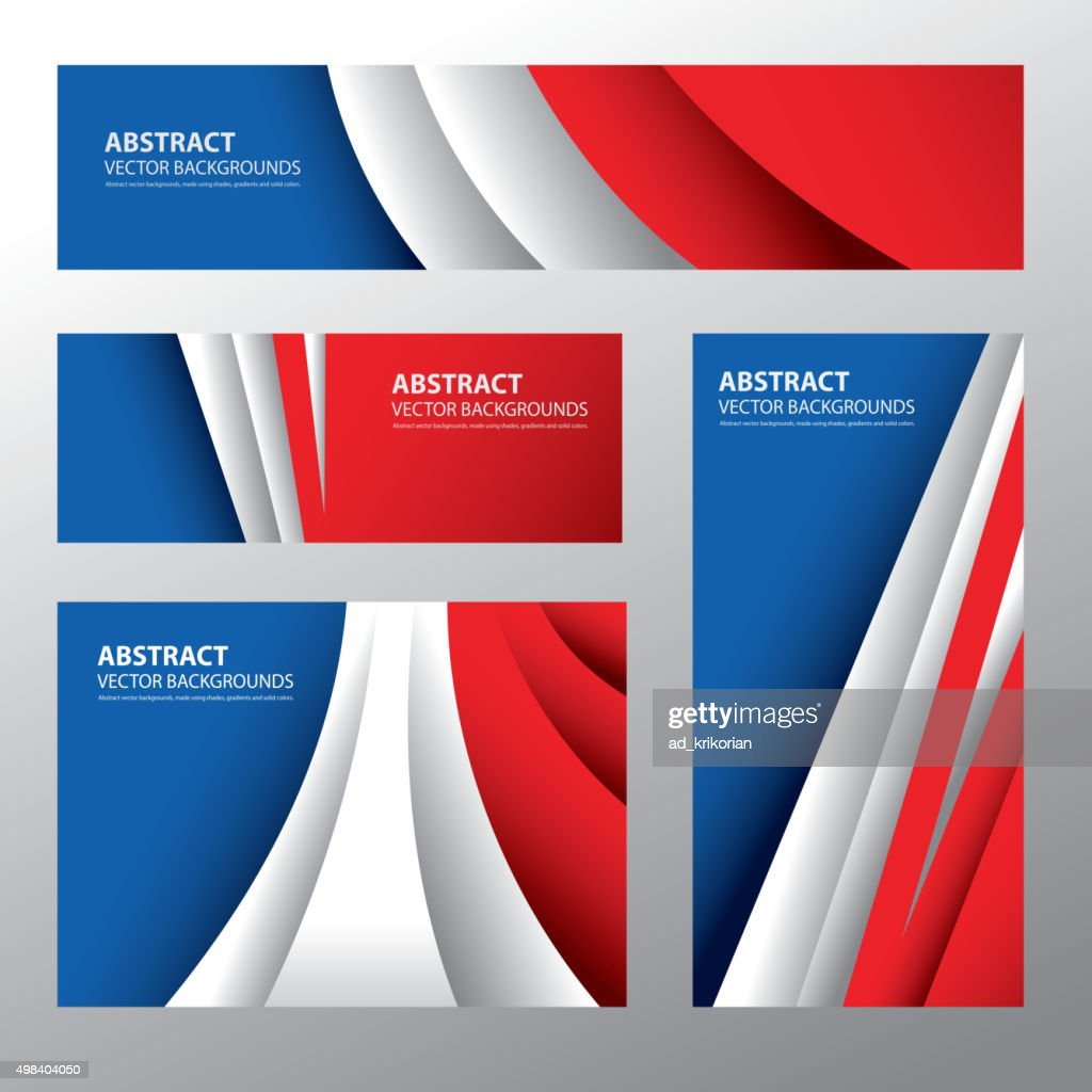 Abstract France Flag, French Colors (Vector Art)