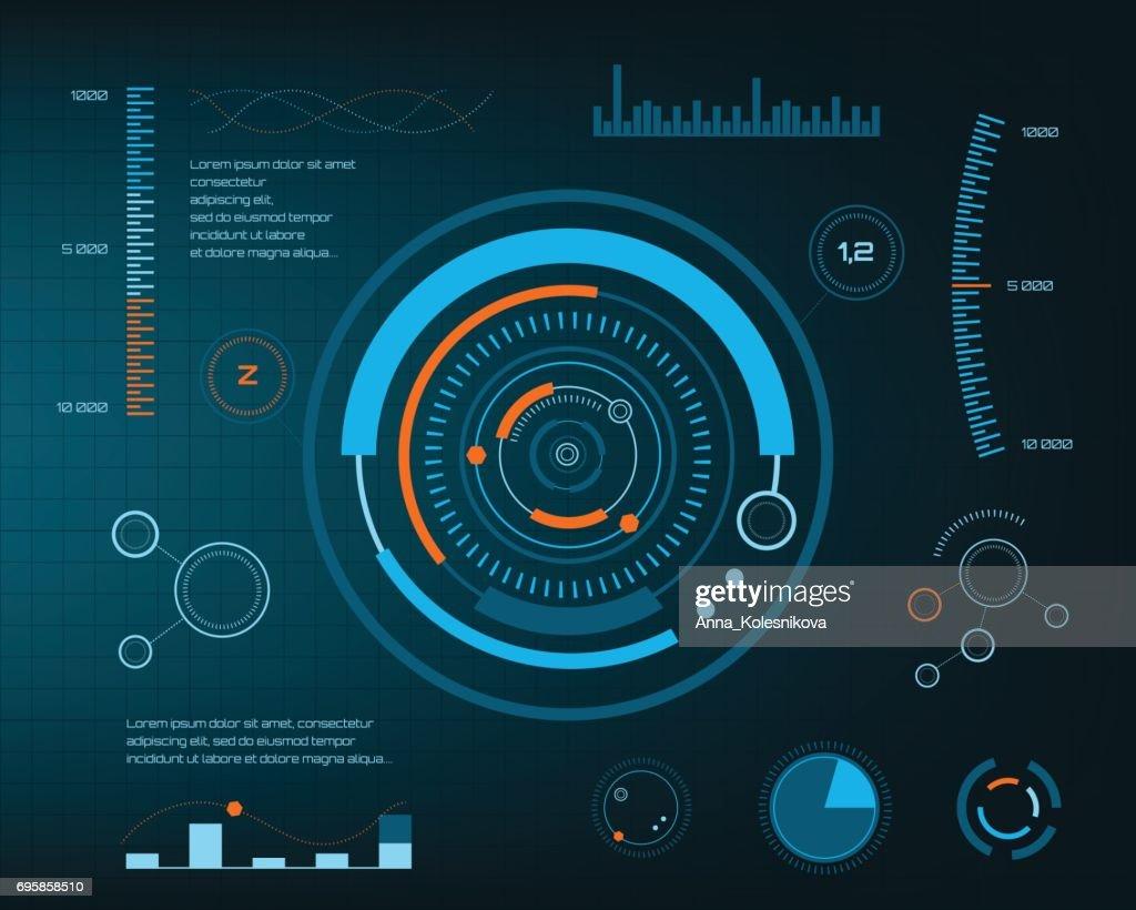 Abstract future, concept vector futuristic blue virtual graphic