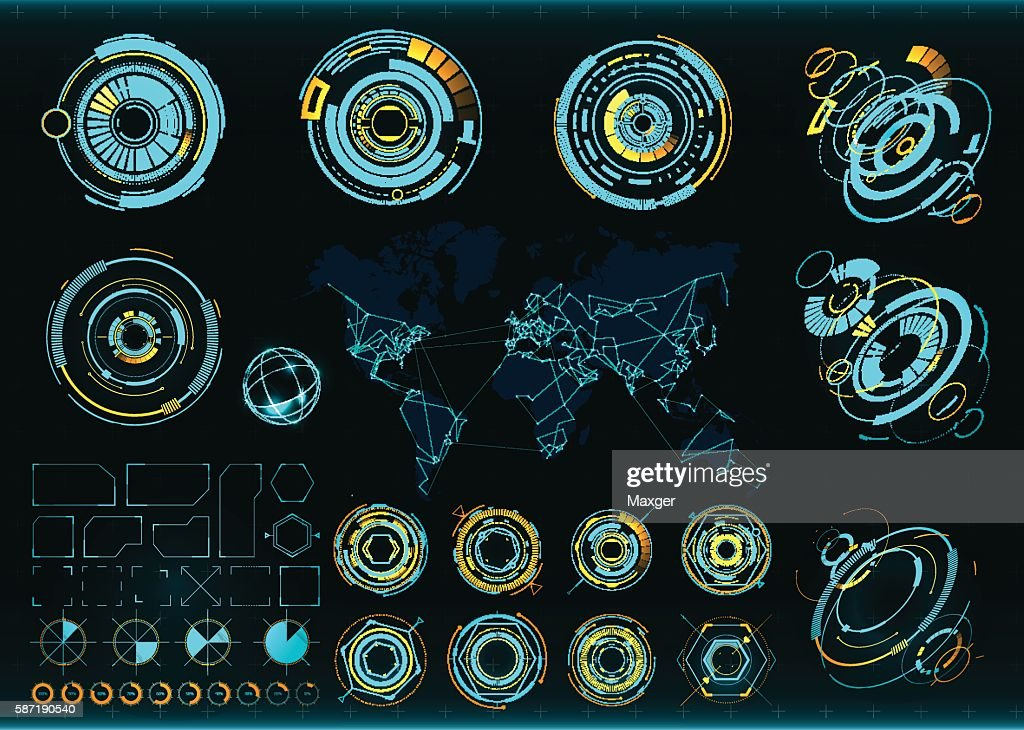 Abstract future, concept vector futuristic interface