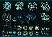 Abstract future, concept vector futuristic interface