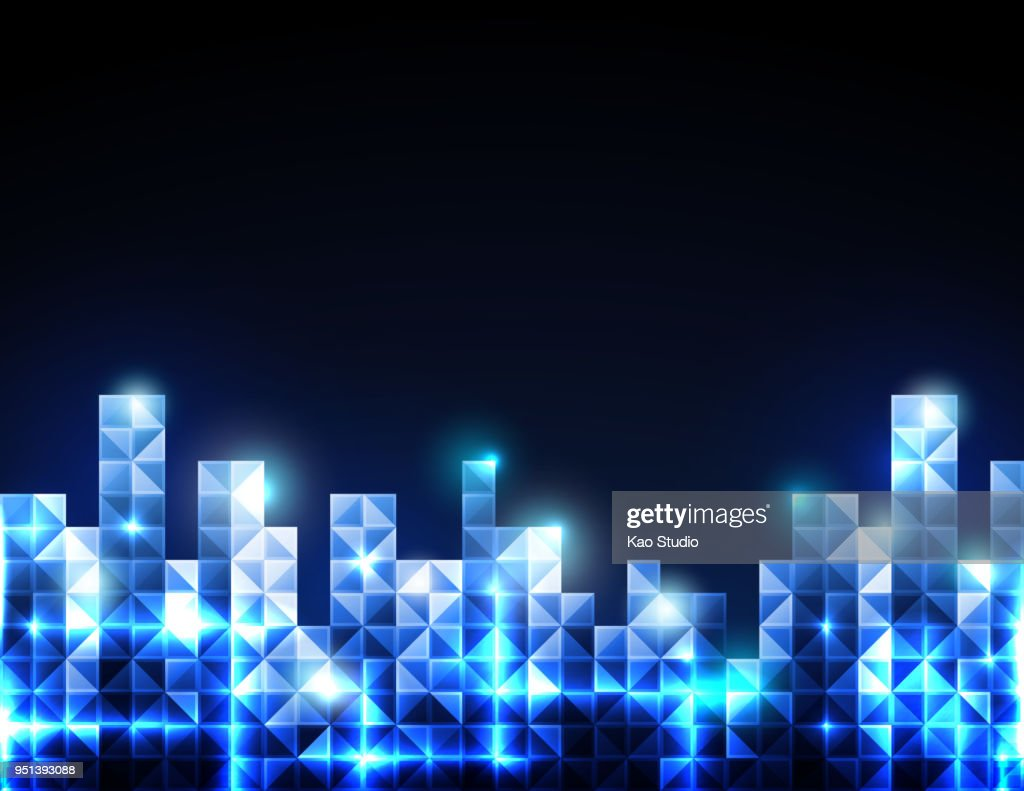 Abstract futuristic blue polygon concept background.