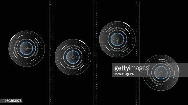 abstract futuristic circle sci fi technology innovation concept background - touch screen stock illustrations