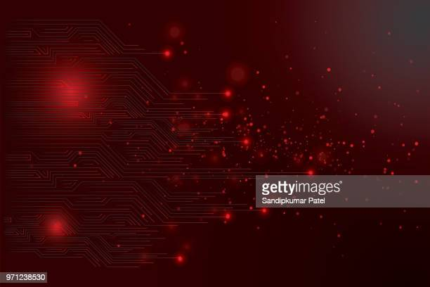 abstract futuristic circuit board - dark stock illustrations