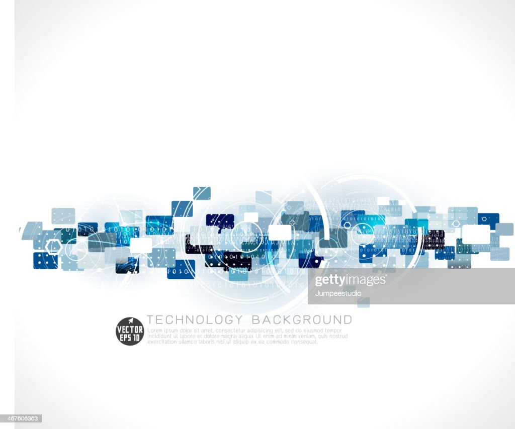 Abstract futuristic circuit technology background, vector illustration