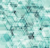 Abstract futuristic digital background with hexagonal shapes