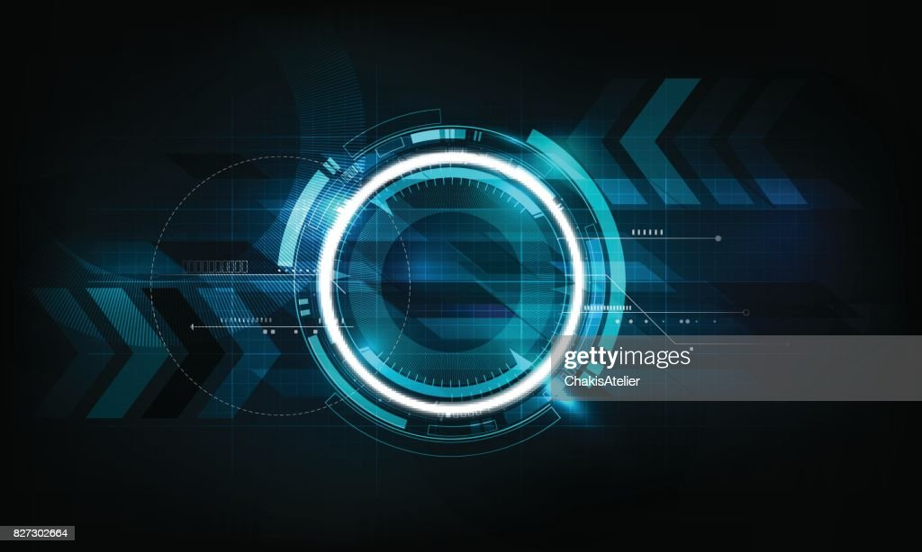 Abstract futuristic electronic circuit technology background, vector illustration