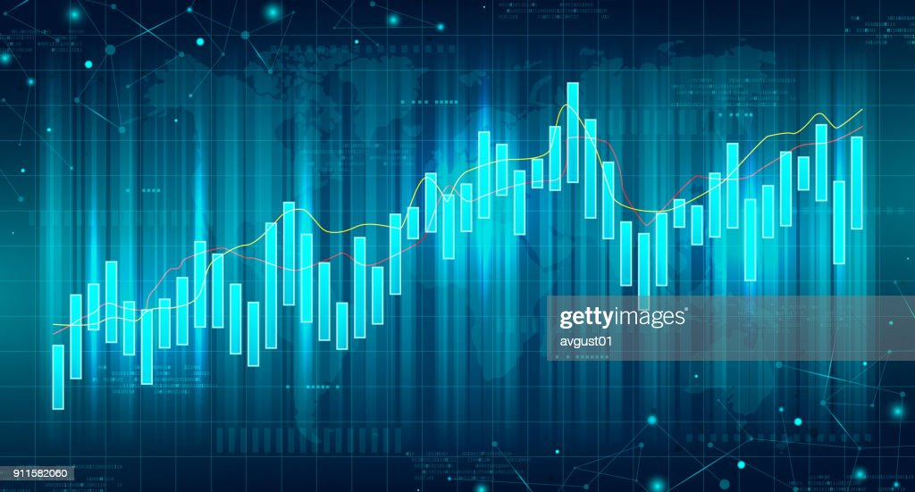 Abstract Futuristic Financial Chart
