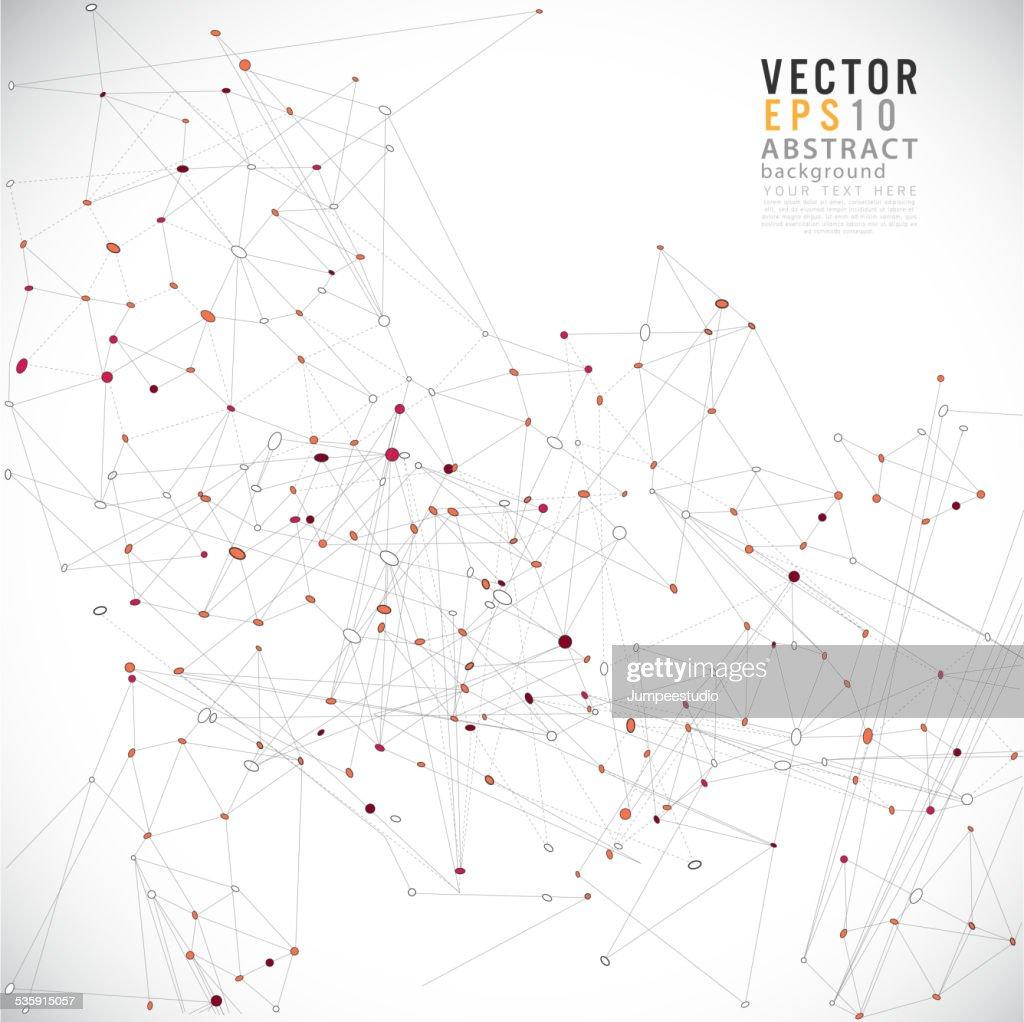 Fundo futurista abstrato de rede de linhas e formas, vector : Arte vetorial