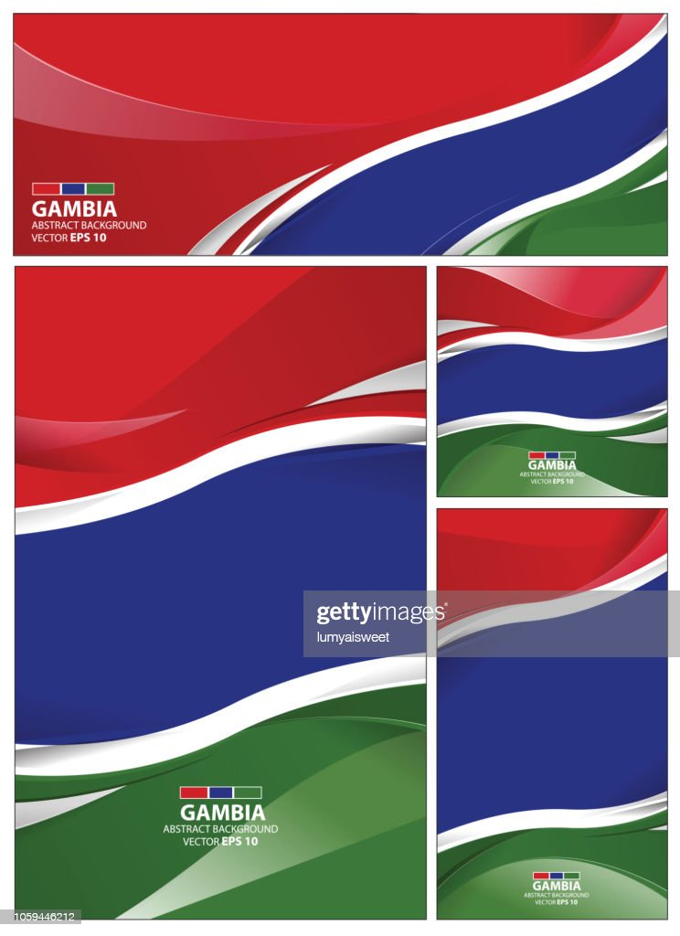 Abstract Gambia Flag Background