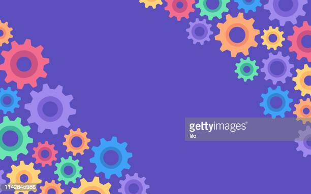 abstract gears background - gearstick stock illustrations