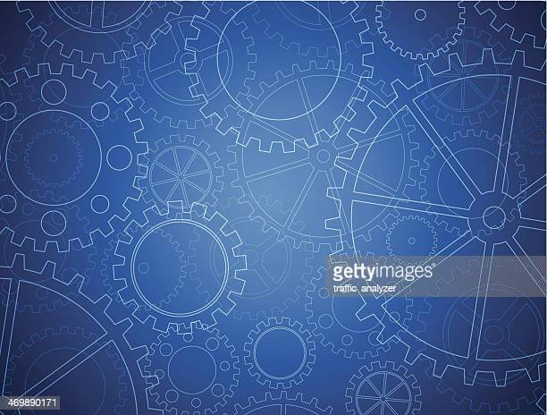 abstract gears background - gearshift stock illustrations, clip art, cartoons, & icons