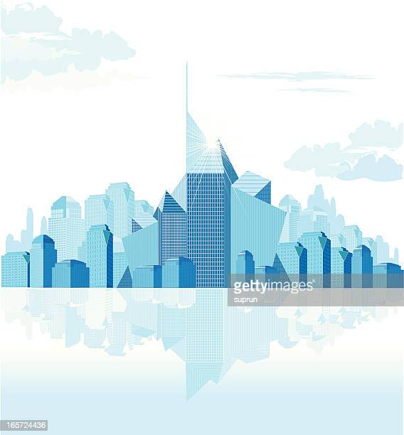 abstract generic downtown - generic description stock illustrations, clip art, cartoons, & icons