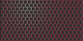 Abstract geometric background from hexagons vector for screensaver
